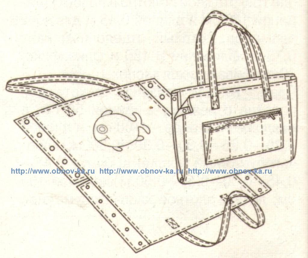 пляжная сумка - коврик эскиз