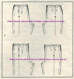 Корректировка выкройки брюк 5