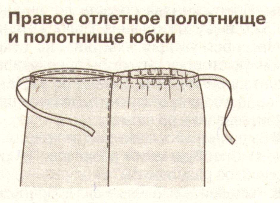 Как сшить юбка с запахом для храма