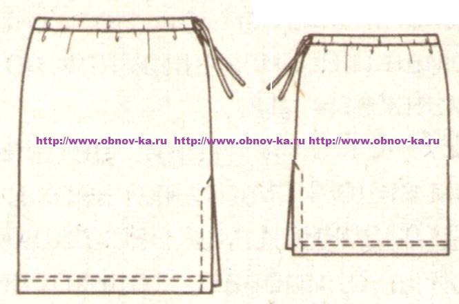 Прямая юбка своими руками без выкройки быстро