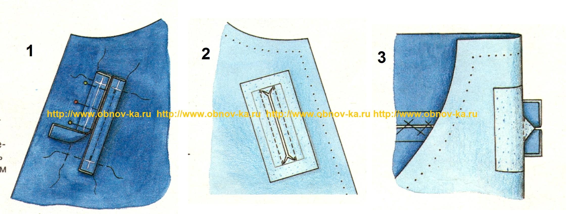 Как сшить внутренний карман с замком 44