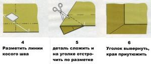 уголки конвертом