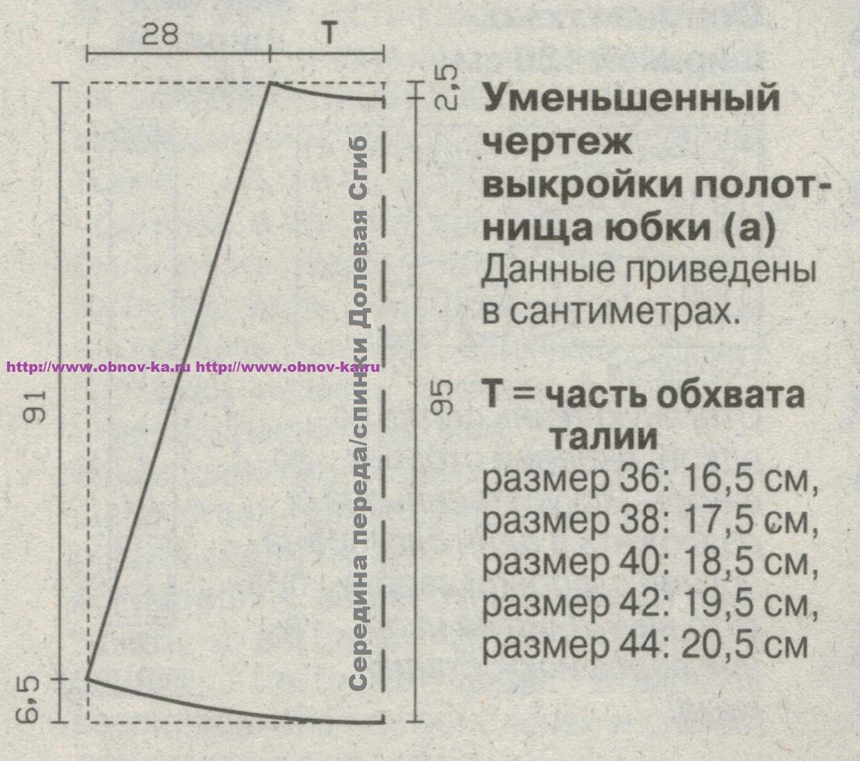 Как сшить начинающему длинную юбку 731