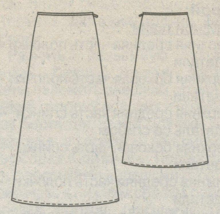 Как сделать прямую юбку из расклешенной