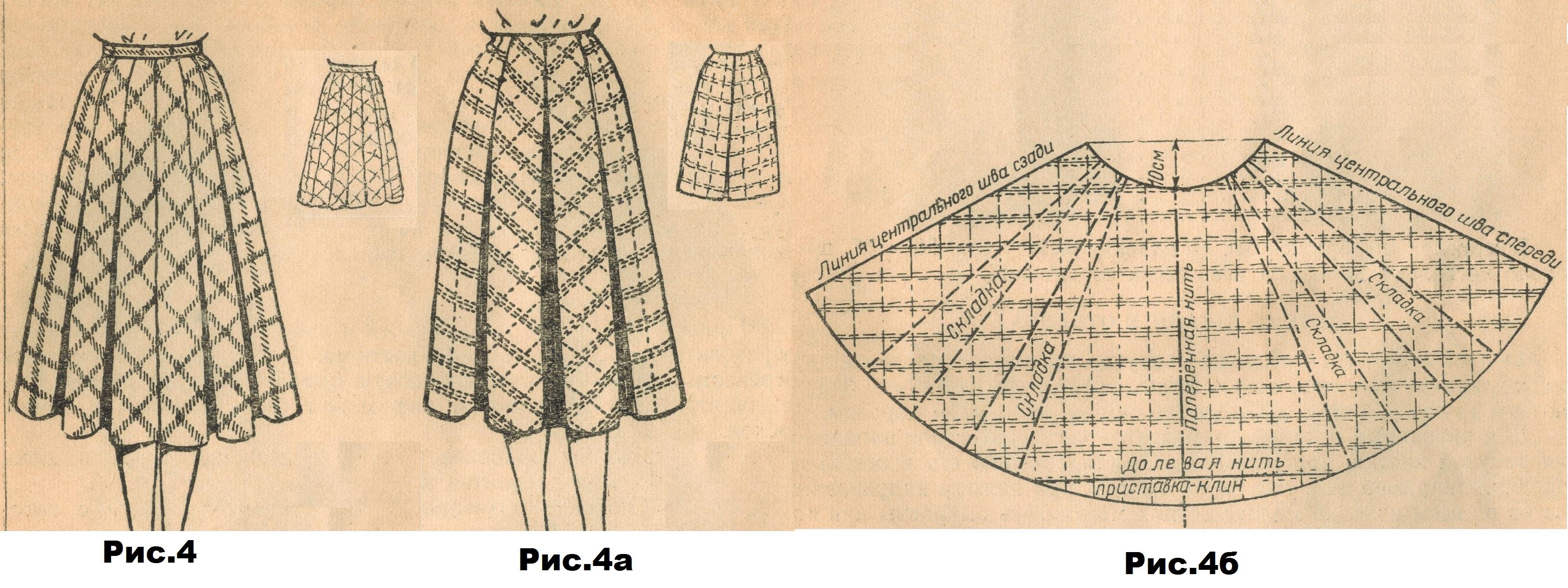 Выкройка юбки клетка по косой