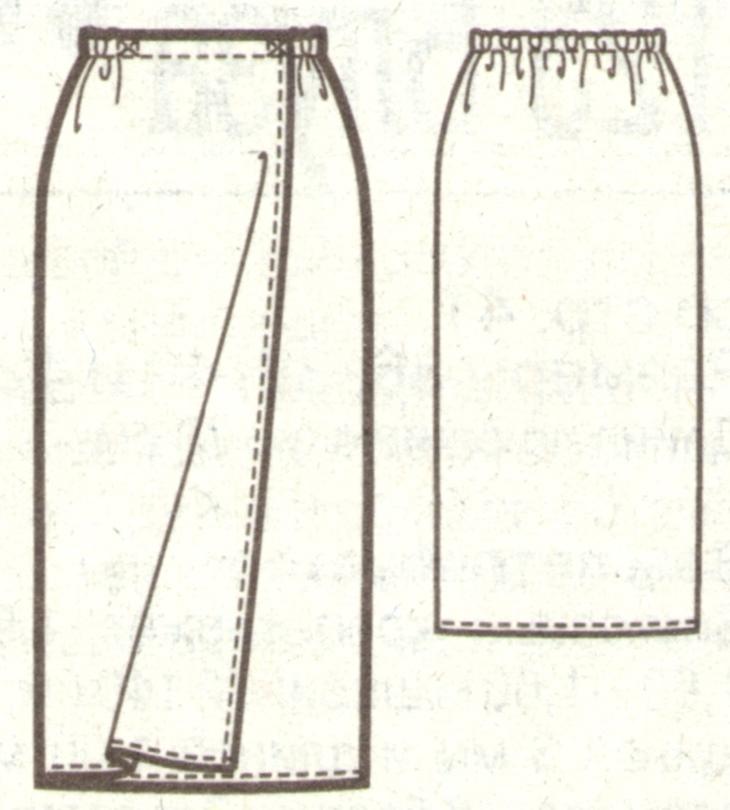 Как сшить юбку с запахом простейшая