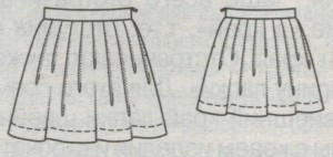 Юбка для девочки в мягкую складку по кругу