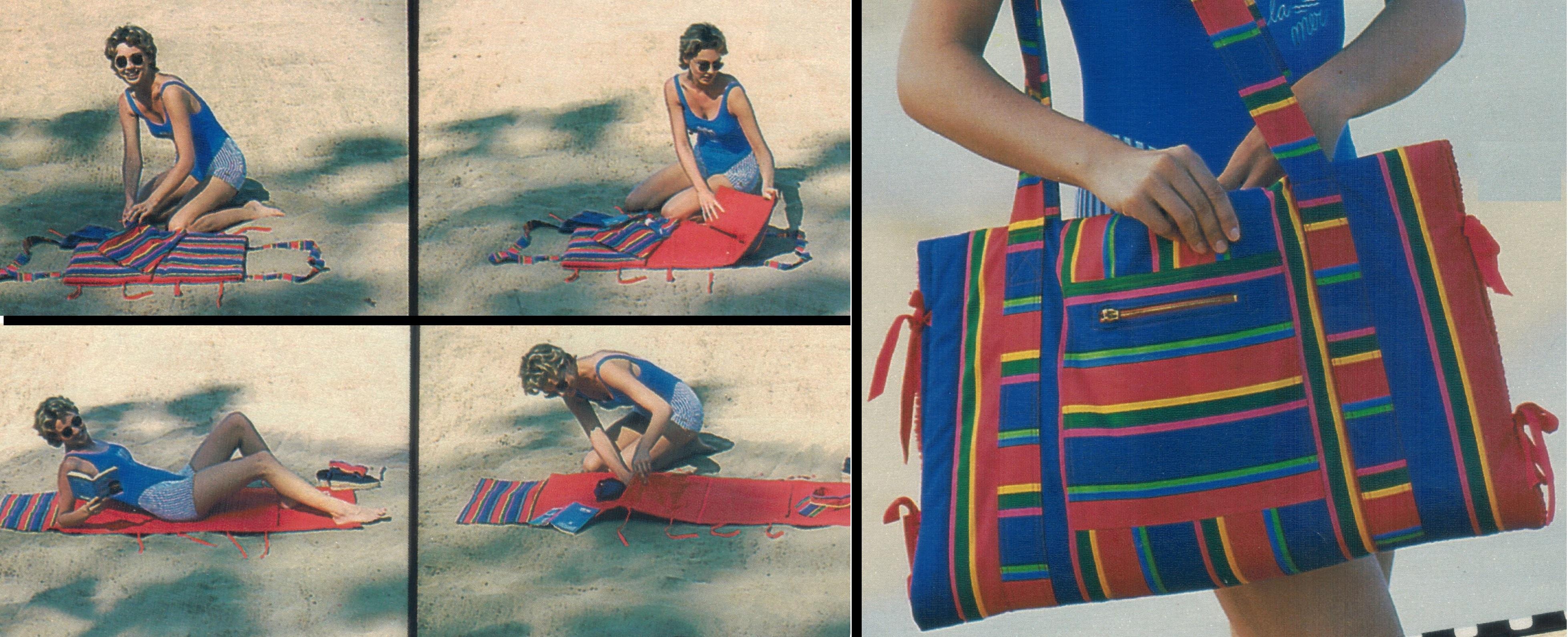 Как сшить коврик пляжный