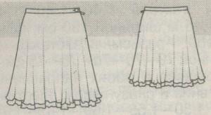 Короткая юбка колокол эскиз