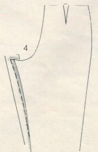 Коррекция брюк 4