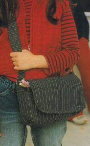 Молодежная джинсовая сумка
