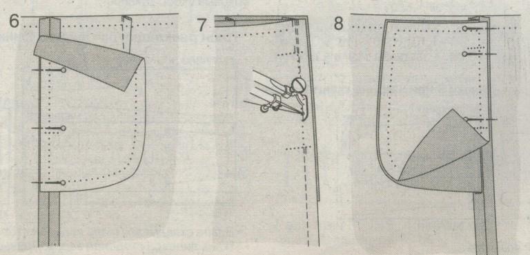 Как сшить карман с подкладом 11