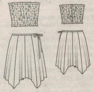 Топ и юбка эскиз
