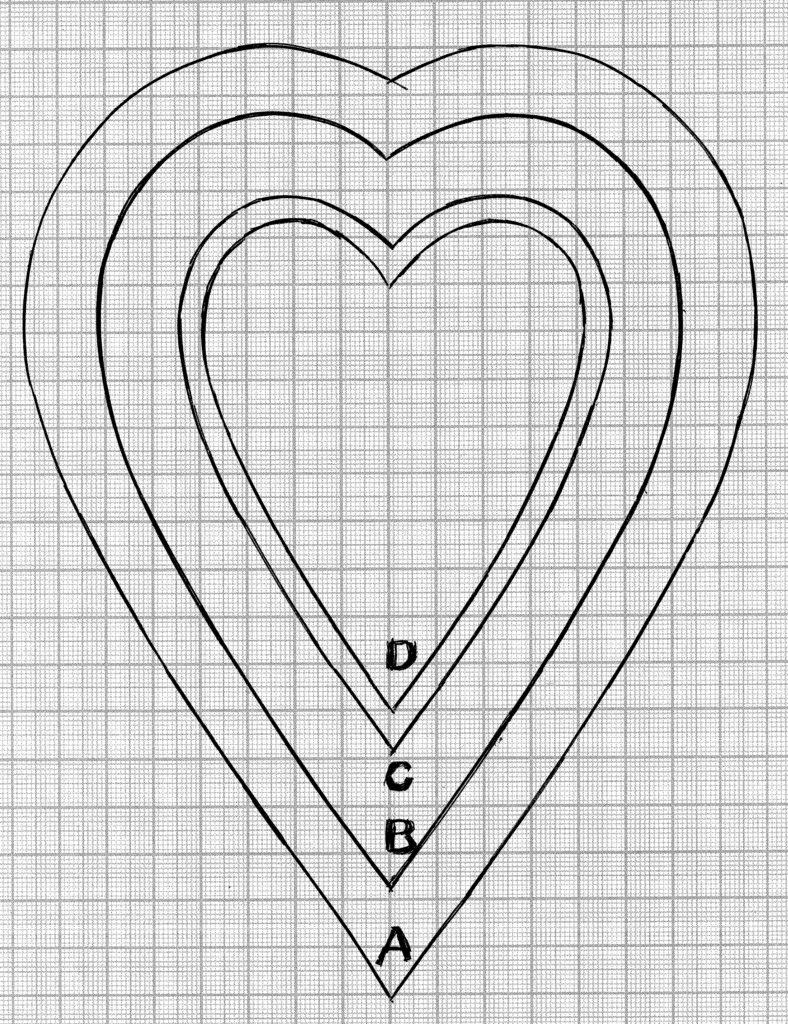 Мотив сердце подушечка