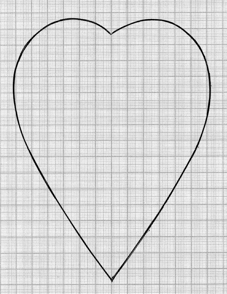 мотив сердце поднос