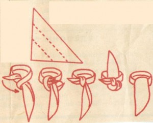 Как завязать платок вар.4