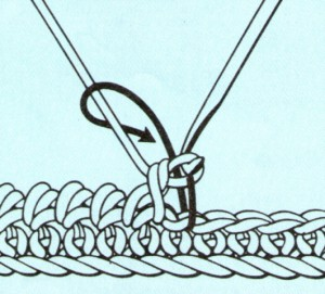 схема вязания рачий ход
