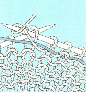 Метод закрепления при вязании орнамента