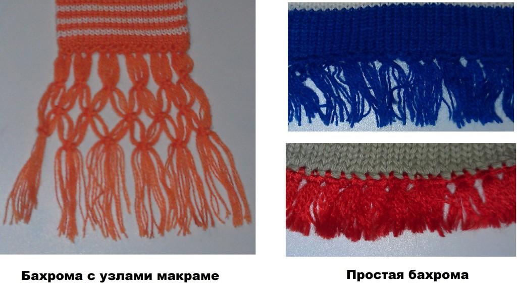 Бахрома из вспомогательных материалов (примеры)