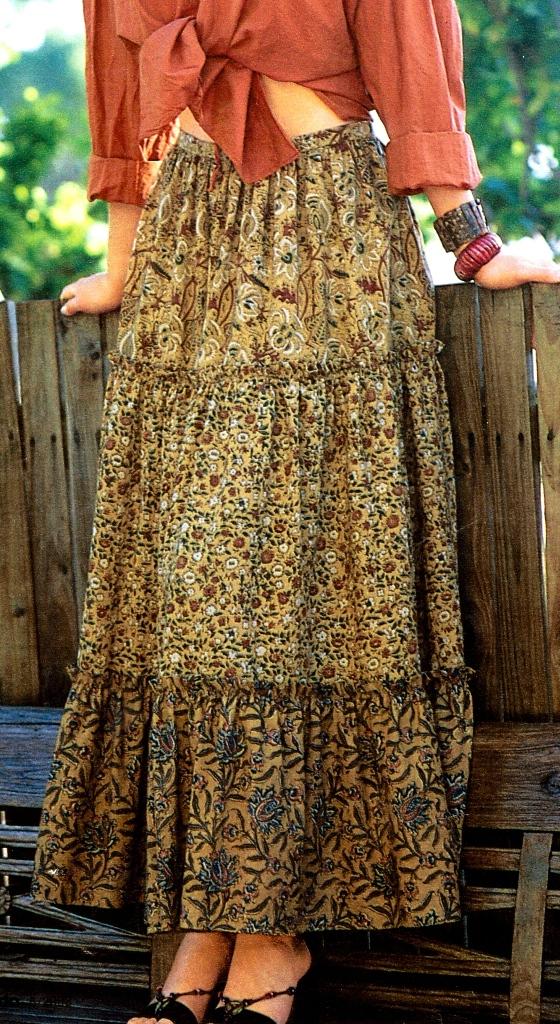 Длинная юбка 3 яруса