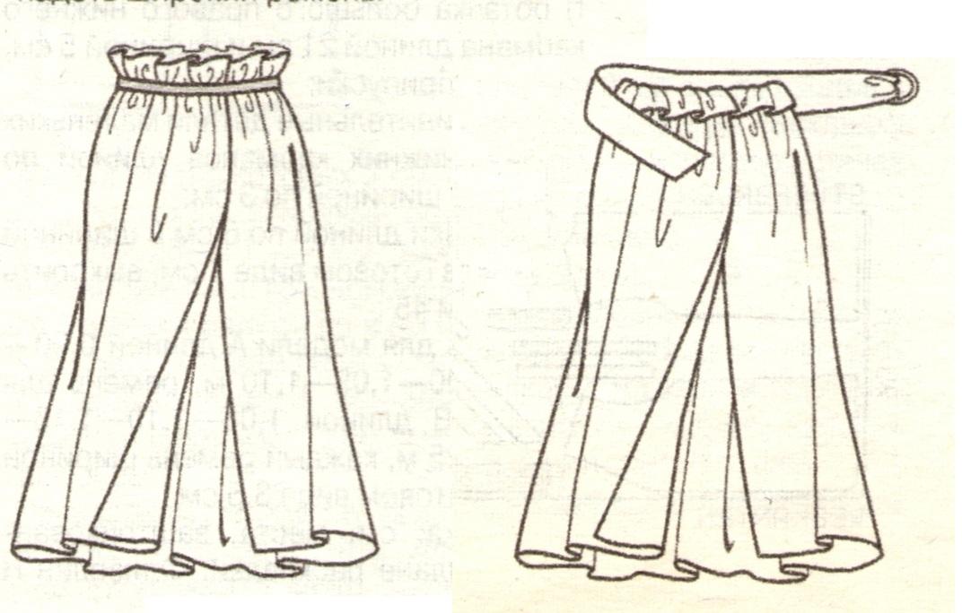 Парео юбка с запахом эскиз