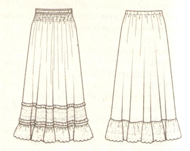 Пышная юбка эскиз