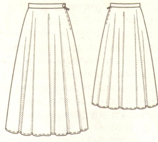 Расклешенная юбка эскиз