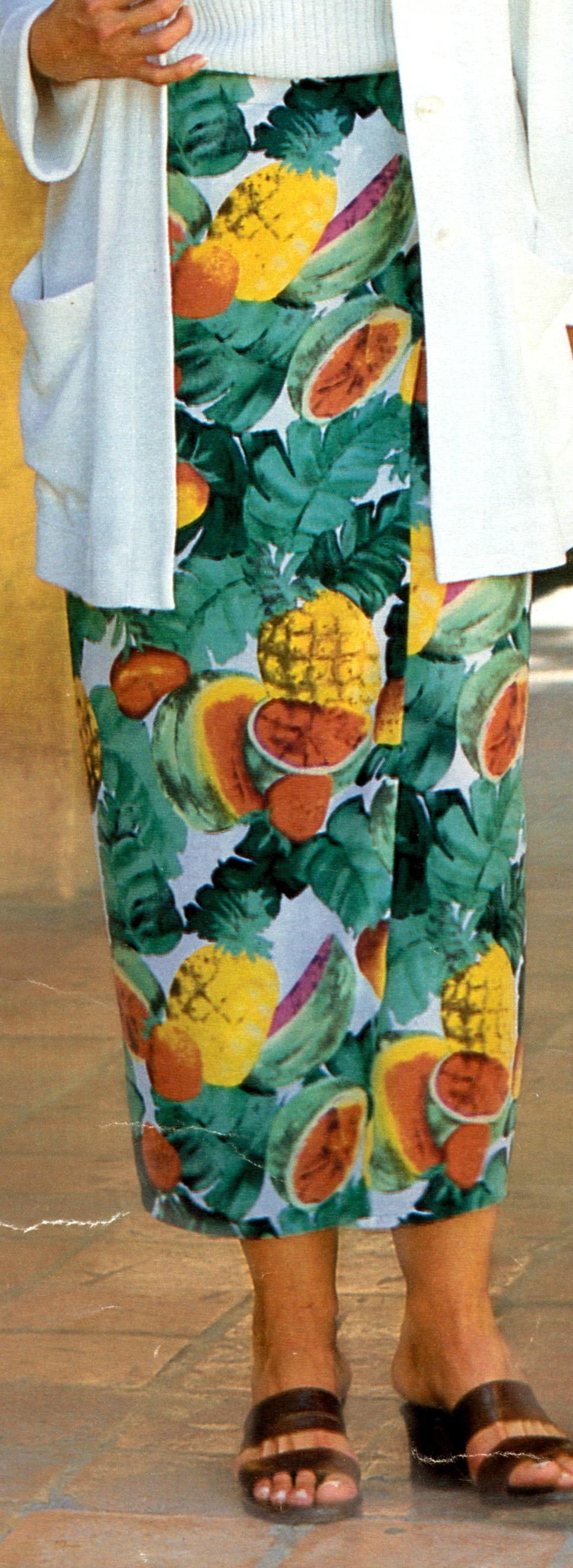 Летняя юбка для полных