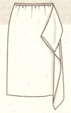 Летняя юбка из 2 платков эскиз