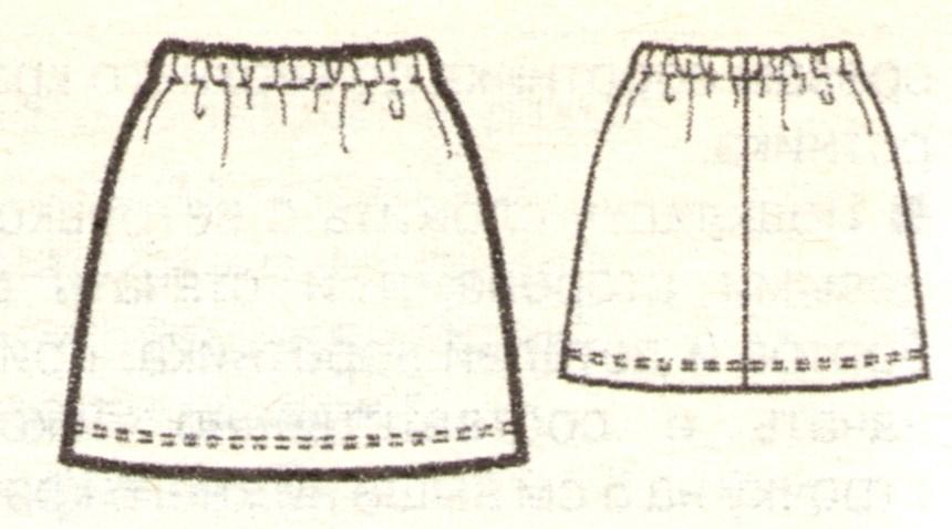 Мини-юбка эскиз