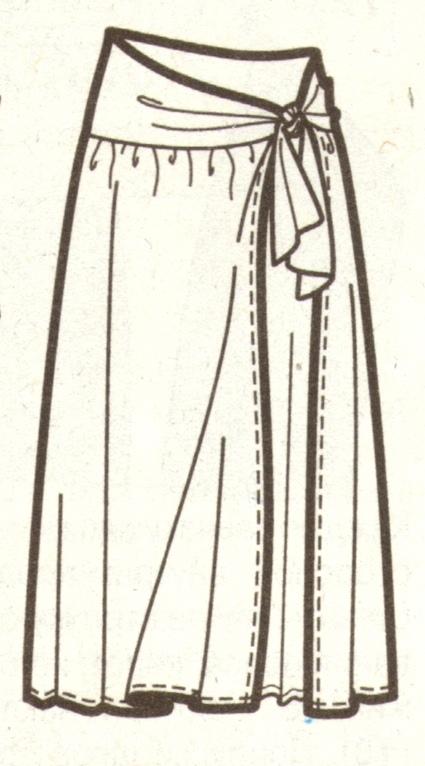 Пляжная юбка эскиз