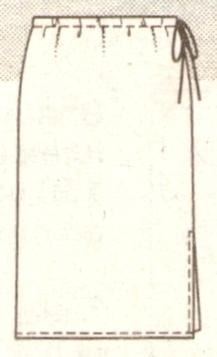Прямая юбка с разрезом эскиз