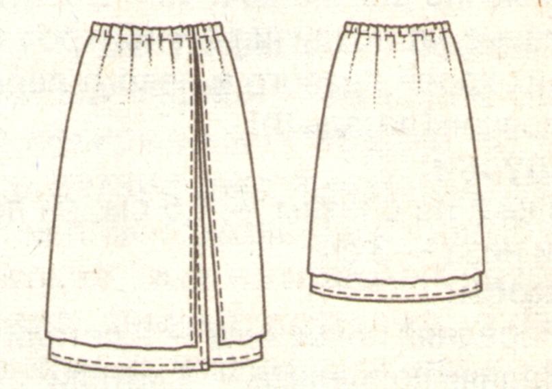 Летняя юбка для девочки эскиз
