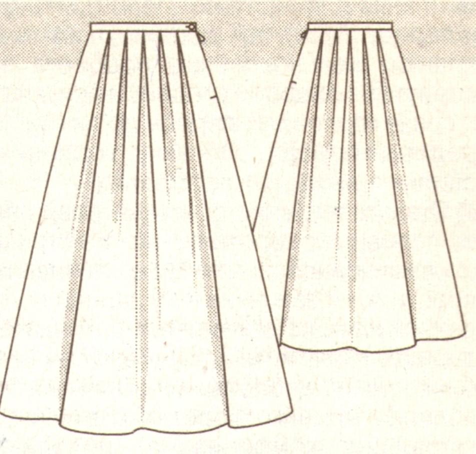 Нарядная юбка со складками эскиз