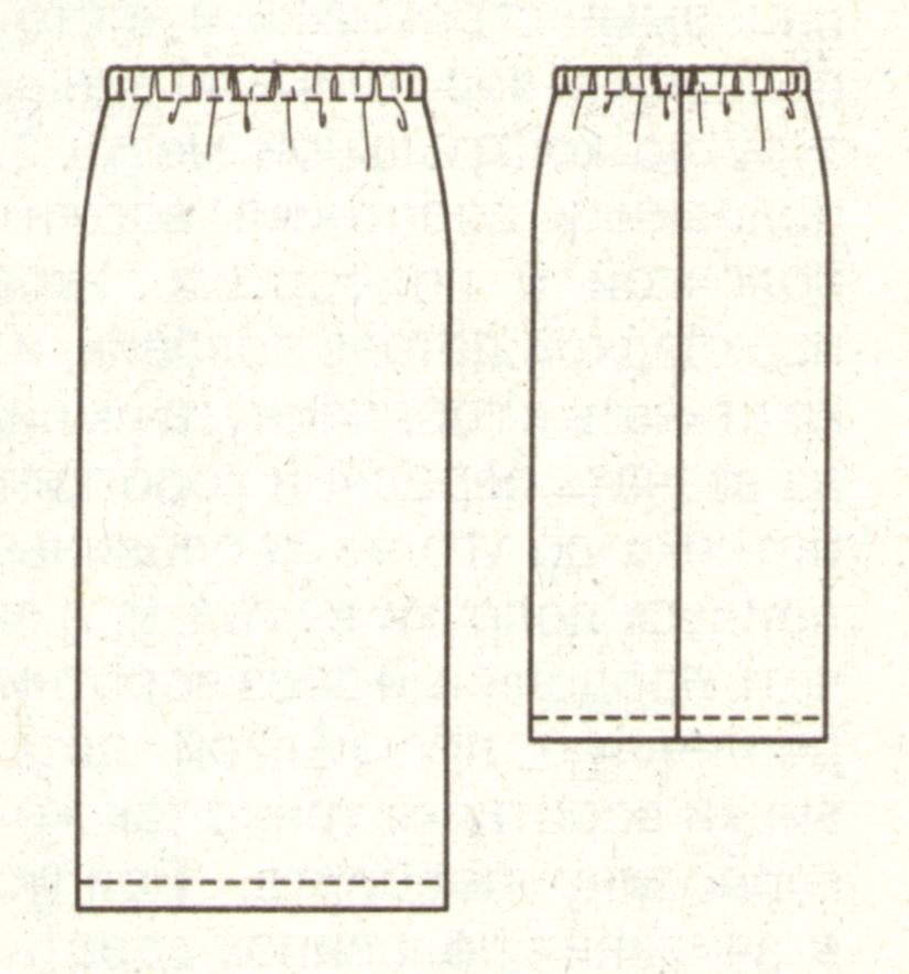 Прямая юбка для полных