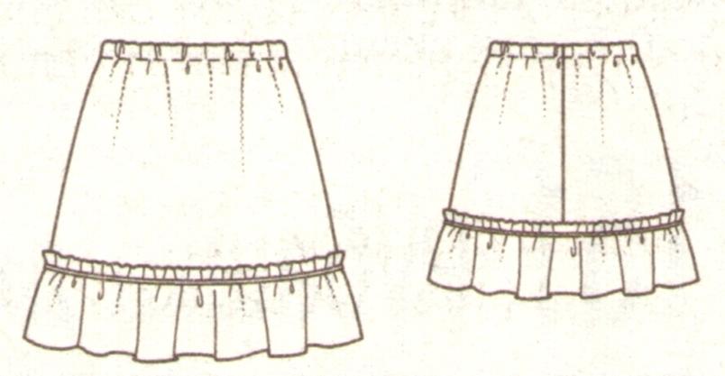 Юбка для девочки эскиз