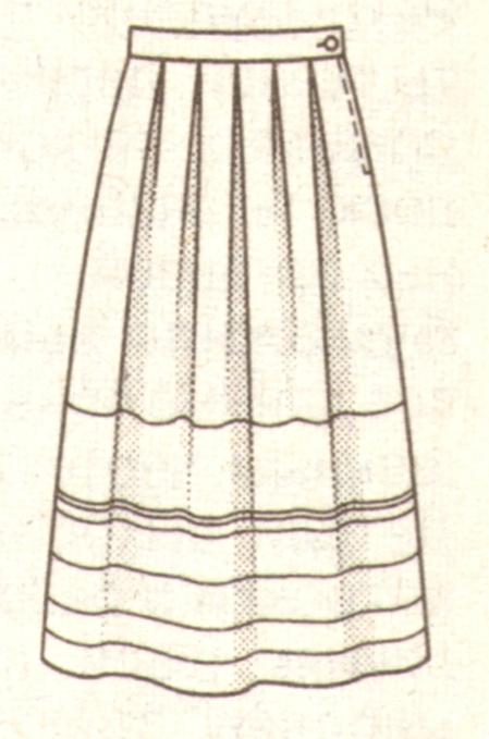 Длинная юбка для девочки эскиз