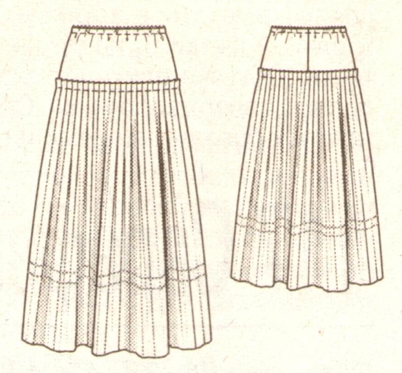 Плиссированная юбка эскиз
