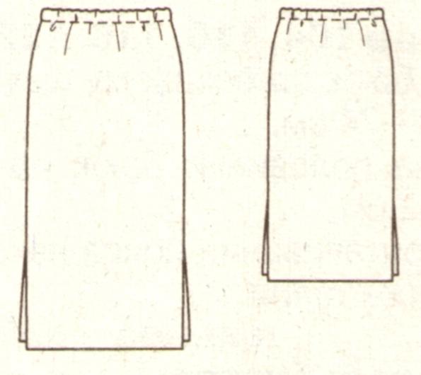 Длинная прямая юбка для девочки эскиз