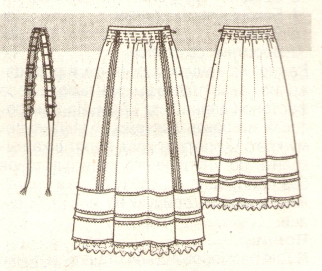 Длинная юбка в фольклорном стиле эскиз