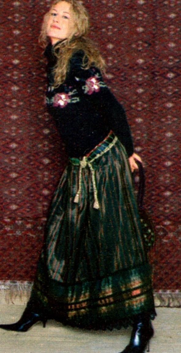 Длинная юбка в фольклорном стиле