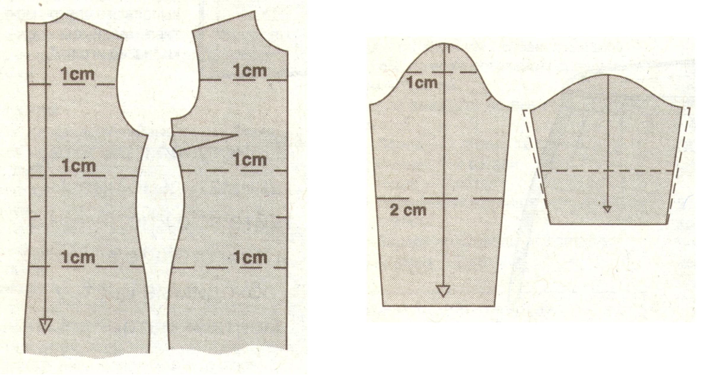 Корректировка плечевых изделий