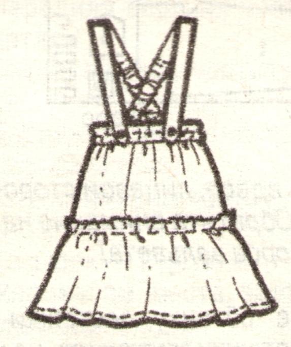 Юбка для девочки на бретелях эскиз