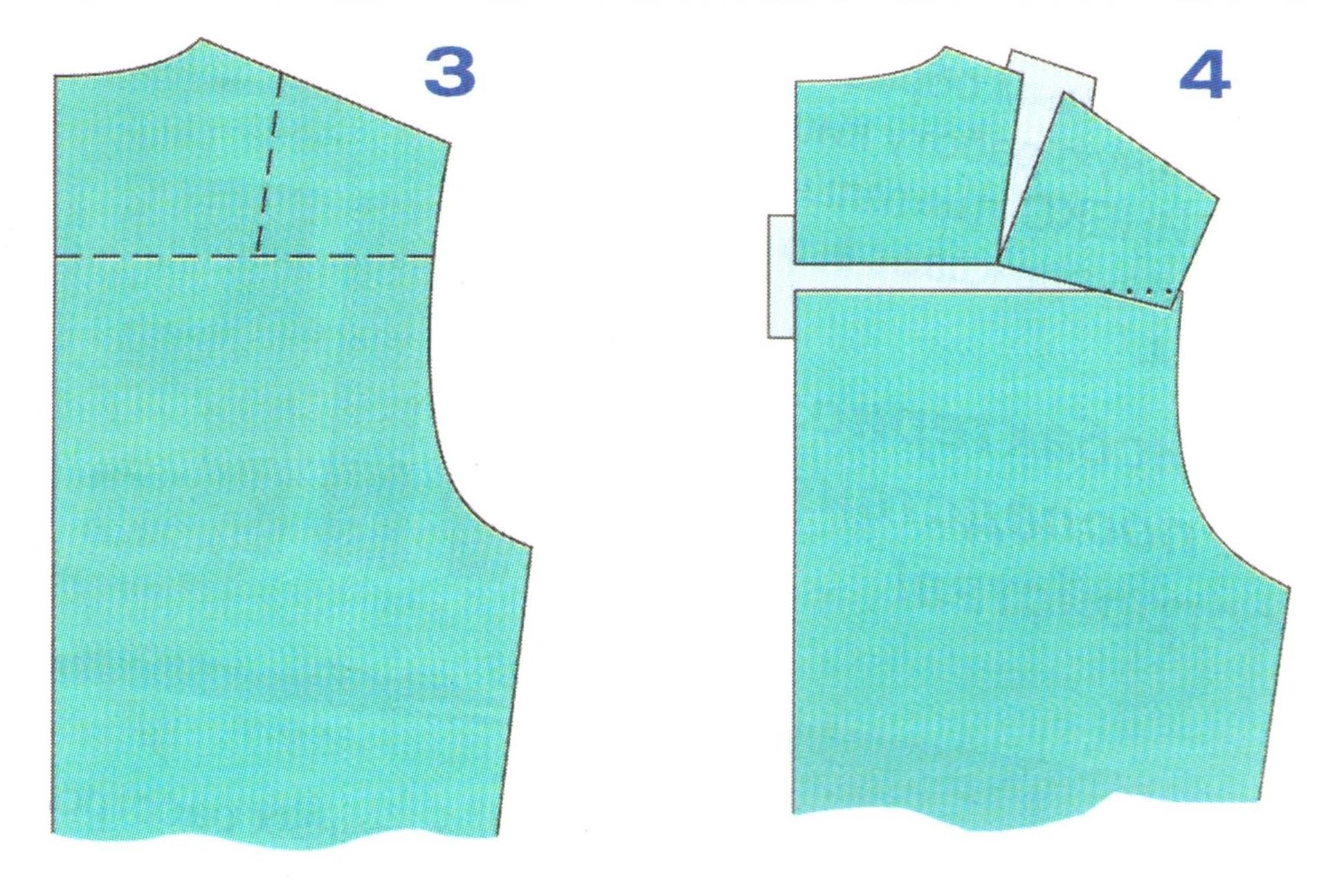 выкройки спинки без вытачки (3-4)