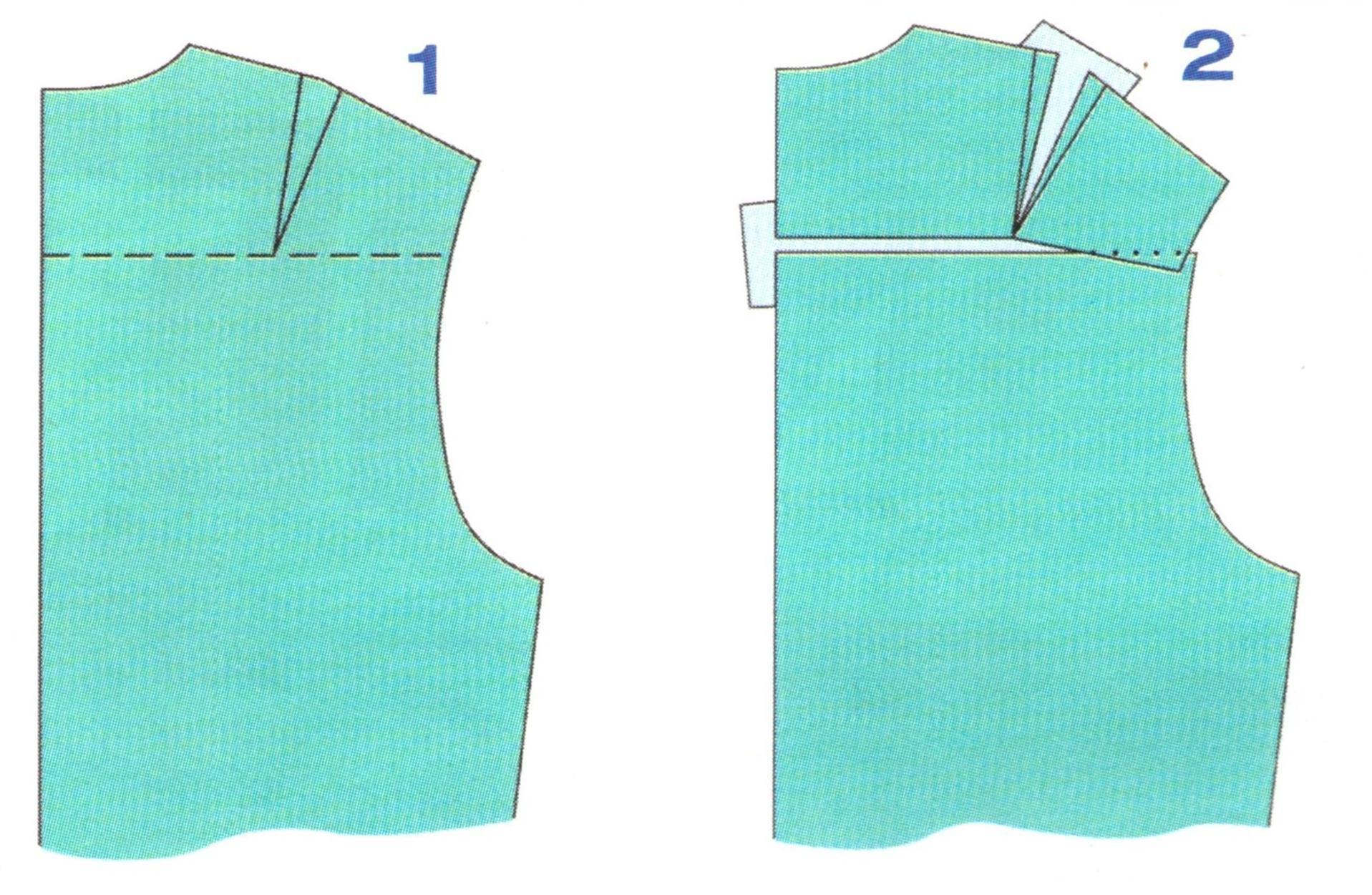 выкройки спинки с вытачкой (1-2)