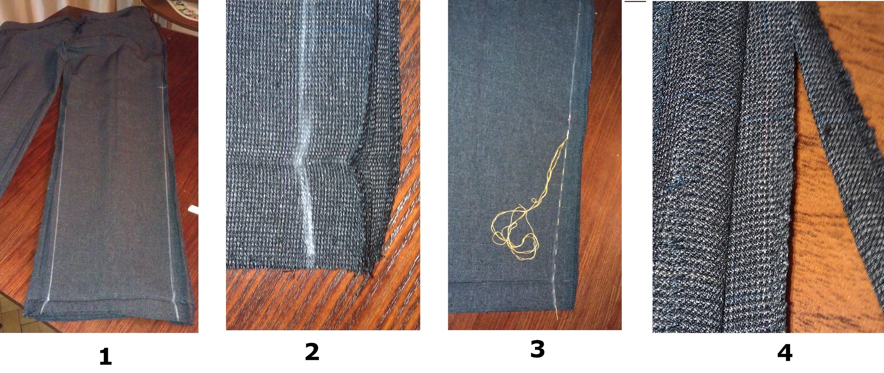 Как заузить брюки (1-4)