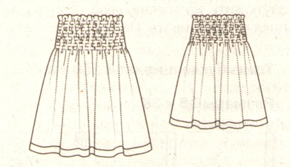 летняя юбка на резинке (эскиз)
