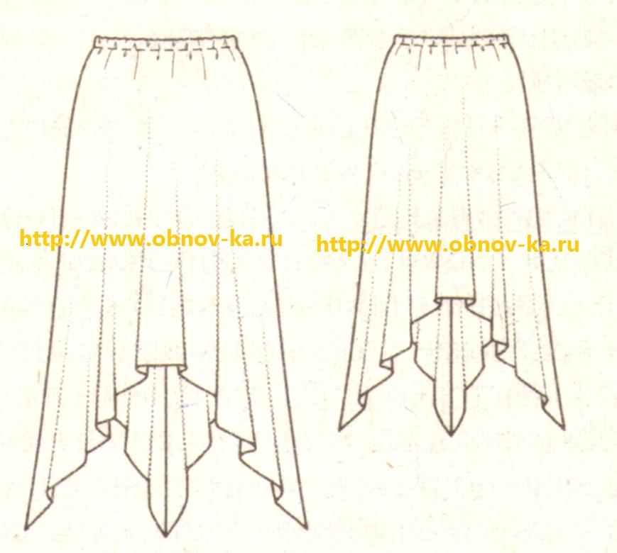 Трикотажная юбка эскиз