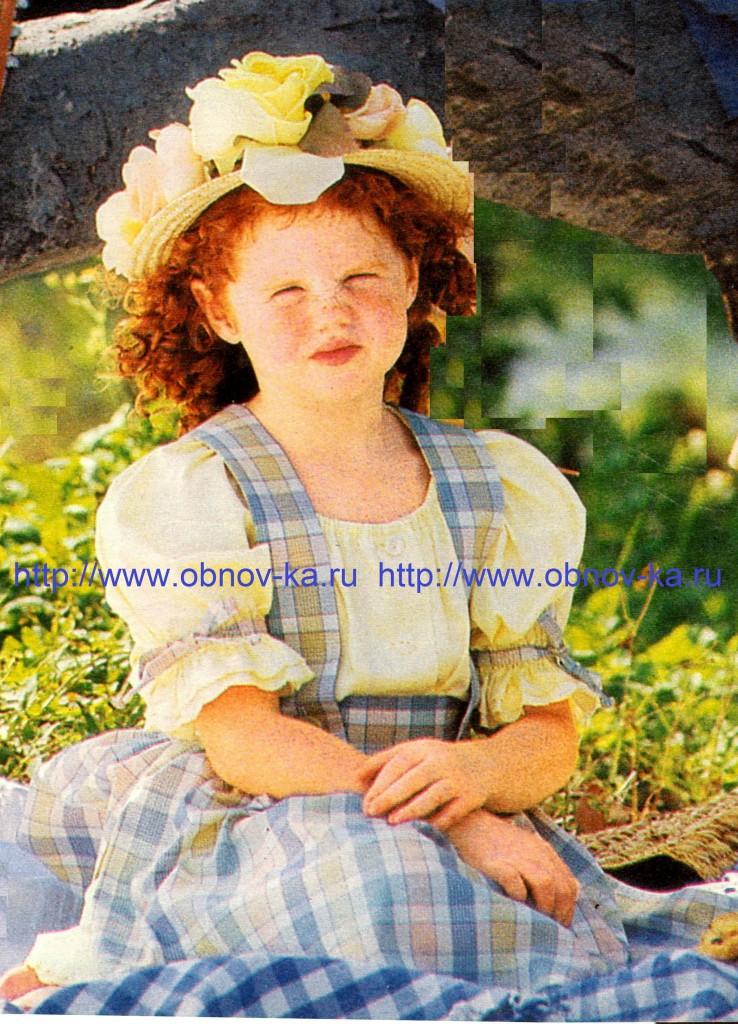 Летняя юбка для девочки с бретелями