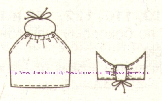 Трикотажный топ для девочки эскиз